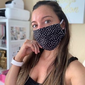 Black Dots Reusable Face Mask Cover Double Layer
